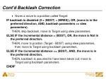 cont d backlash correction
