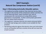 bact example natural gas compressor station cont d4