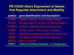 pd153035 alters expression of genes that regulate attachment and motility