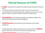 clinical features of copd1