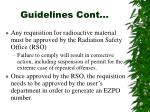 guidelines cont