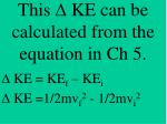 this d ke can be calculated from the equation in ch 5