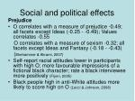 social and political effects