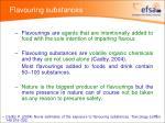 flavouring substances