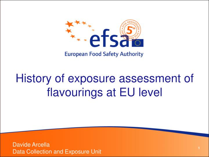 history of exposure assessment of flavourings at eu level n.