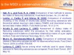 is the msdi a conservative method1