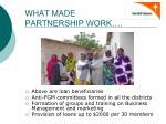 what made partnership work1