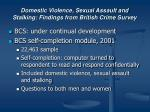 domestic violence sexual assault and stalking findings from british crime survey
