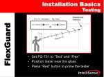 installation basics testing