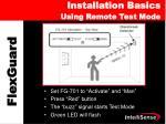 installation basics using remote test mode