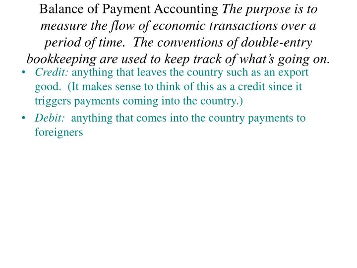 Balance of Payment Accounting