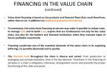 financing in the value chain continued
