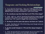 tangrams and seeking relationships