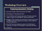 workshop overview1