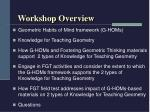 workshop overview6
