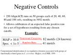 negative controls