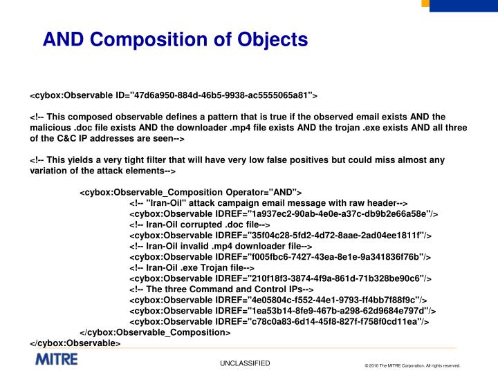 AND Composition of Objects