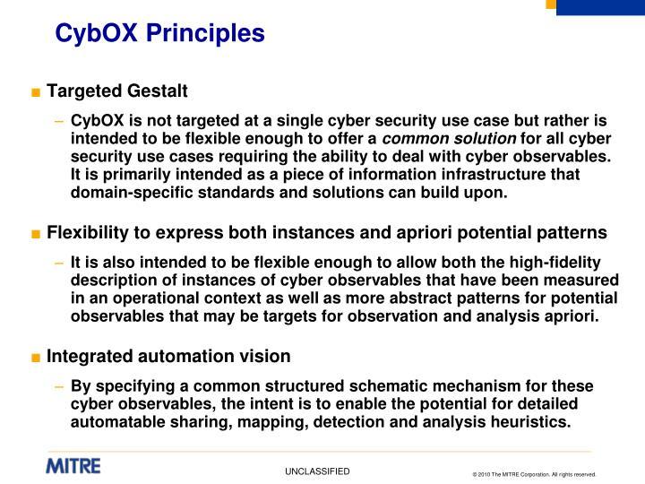 CybOX Principles