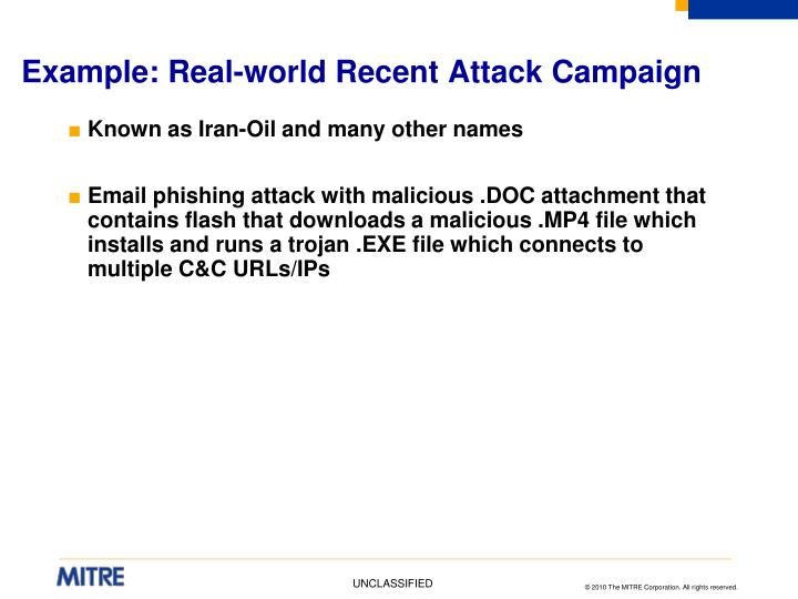 Example: Real-world Recent Attack Campaign
