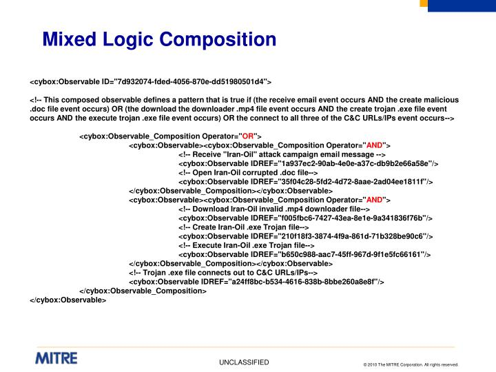 Mixed Logic Composition