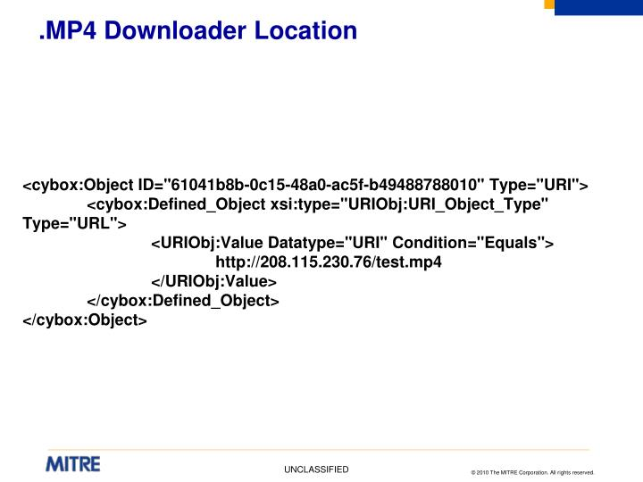 .MP4 Downloader Location