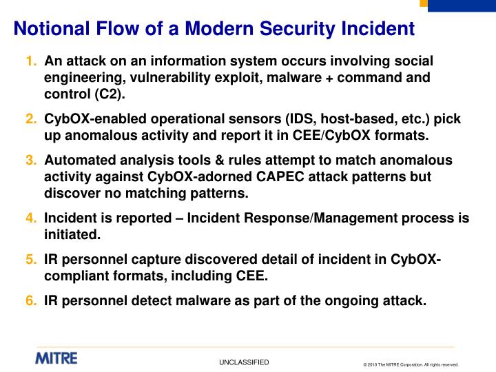 Notional Flow of a Modern Security Incident