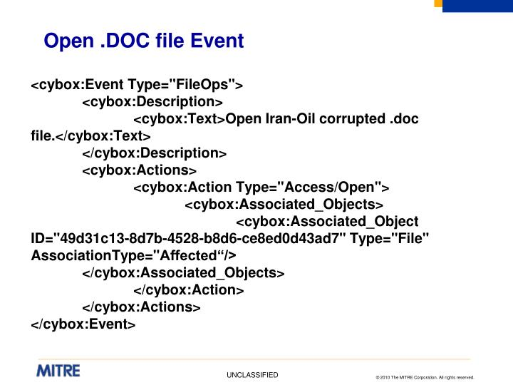 Open .DOC file Event