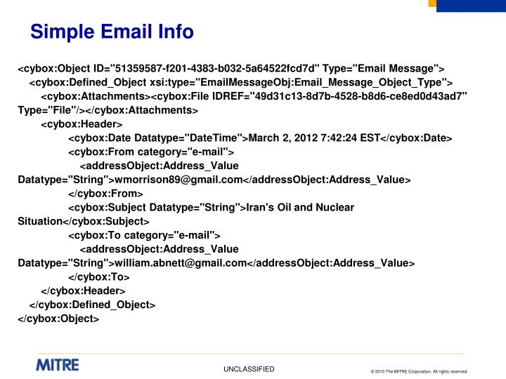 Simple Email Info
