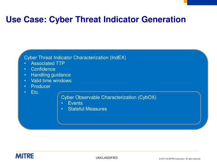 Use Case: Cyber Threat Indicator Generation