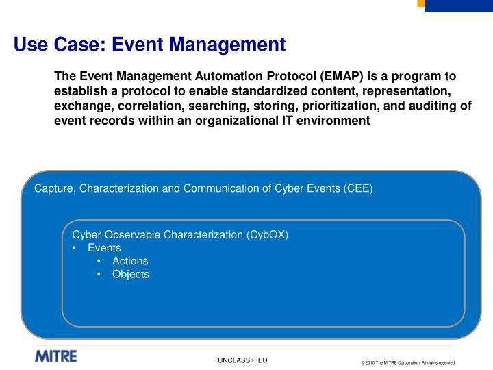 Use Case: Event Management