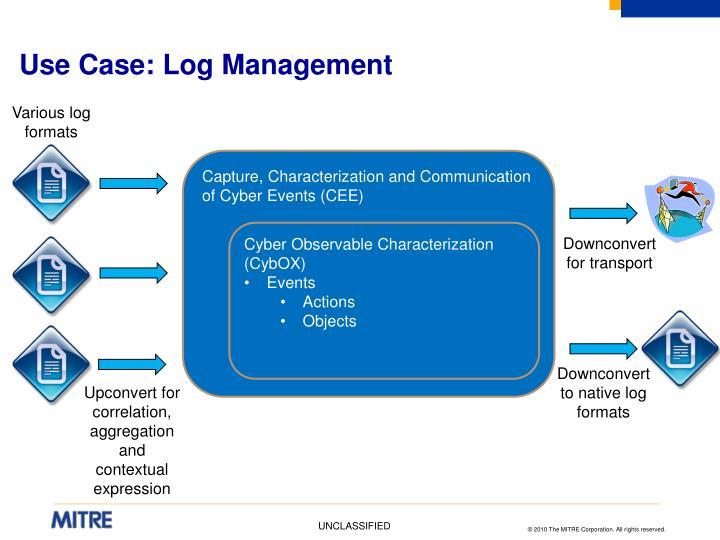 Use Case: Log Management