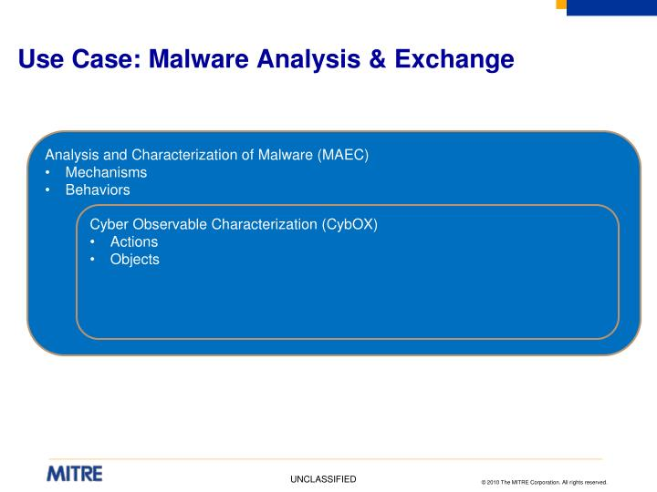 Use Case: Malware Analysis & Exchange