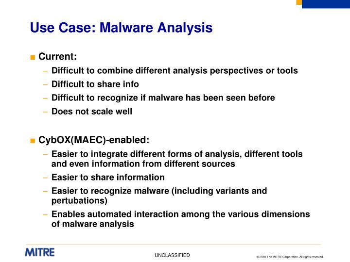 Use Case: Malware Analysis