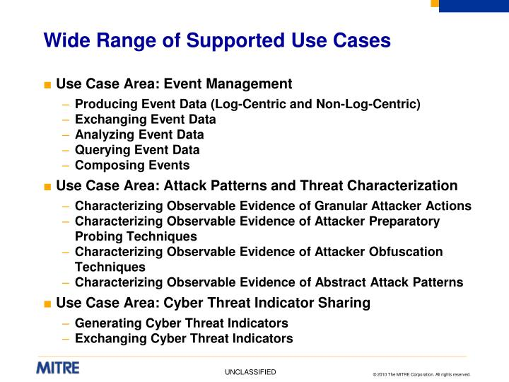 Wide Range of Supported Use Cases