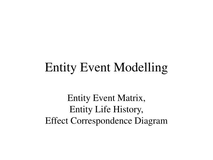 entity event modelling n.