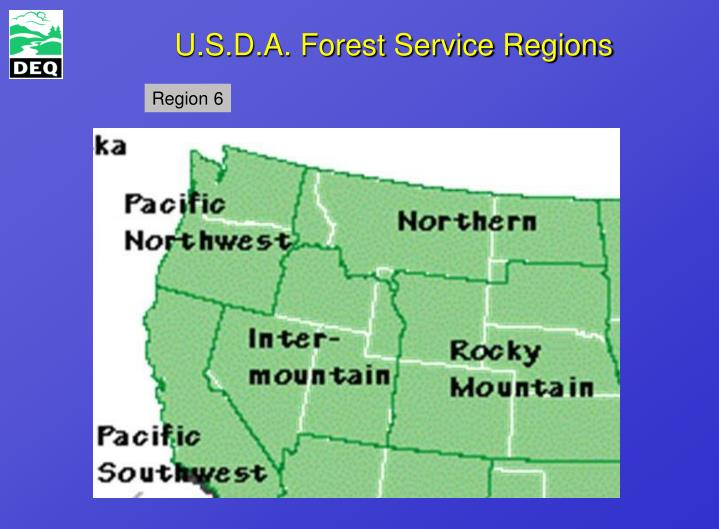 U.S.D.A. Forest Service Regions