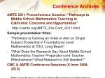 conference archives