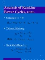 analysis of rankine power cycles cont1
