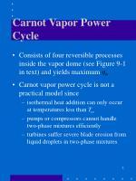 carnot vapor power cycle