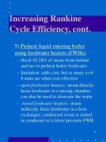 increasing rankine cycle efficiency cont2