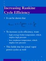 increasing rankine cycle efficiency