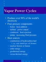 vapor power cycles1