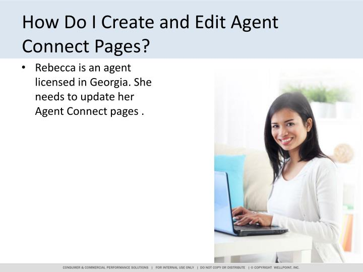 How Do I Create and Edit Agent Connect Pages?