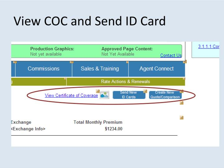 View COC and Send ID Card