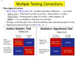 multiple testing corrections