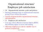 organisational structure employee job satisfaction