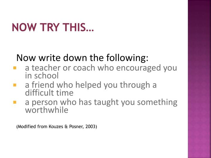 Now try this…