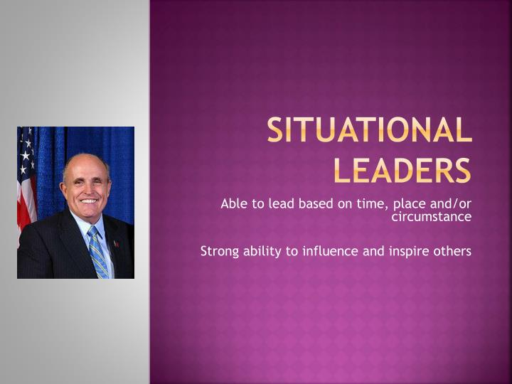 Situational leaders