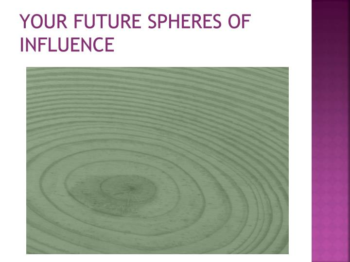 Your future spheres of influence