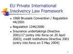 eu private international insolvency law framework